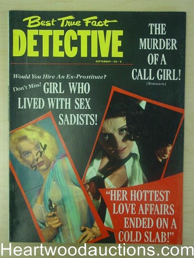 """Best True Fact Detective"" Sep 1966 Bad Girl Cover"