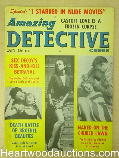 """Amazing Detective"" February 1963 Assault Cover"