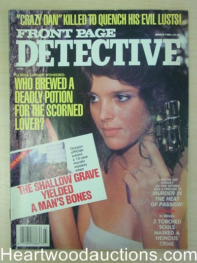 """Front Page Detective"" March 1988 Bad Girl Cover"