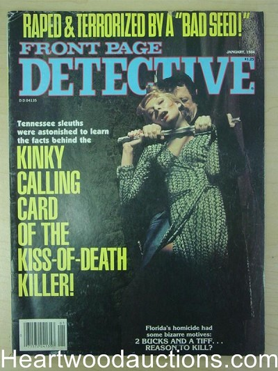 """Front Page Detective"" January 1984 Assault Cover"