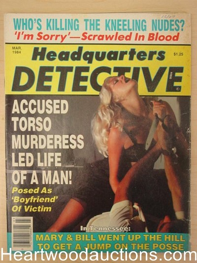 """Headquarters Detective"" March 1984 Bad Girl Cover"