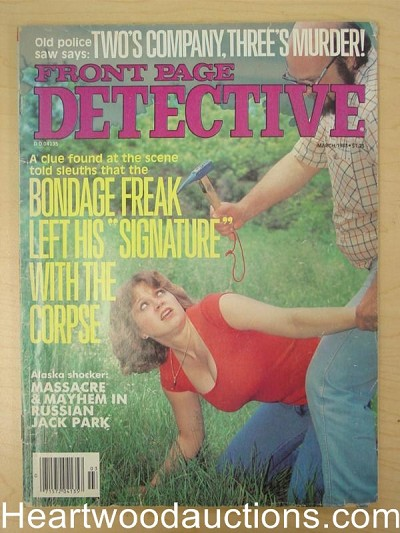 """Front Page Detective"" March 1983"