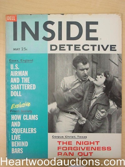 """Inside Detective"" May 1961 Assault Cover"