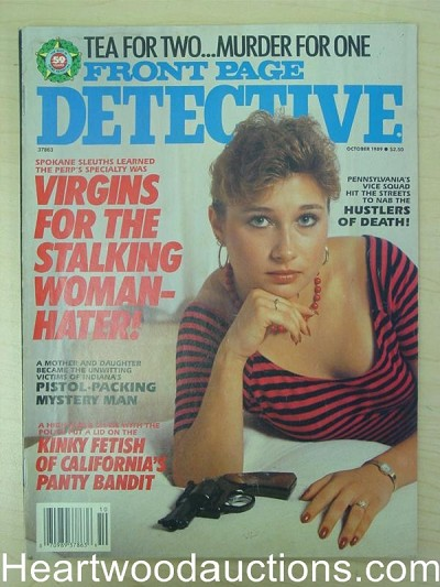 """Front Page Detective"" October 1989 Bad Girl Cover"
