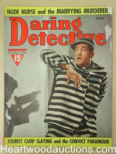"""Daring Detective"" August 1940 Prison Break Cover"