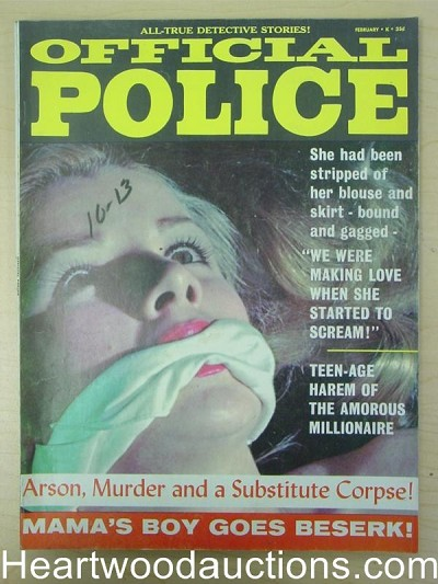 """Official Police"" February 1967 Bondage Cover"