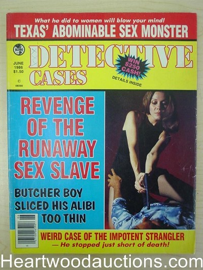 """Detective Cases"" June 1986 Bad Girl Cover"