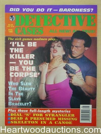 """Detective Cases"" August 1995 Assault Cover"
