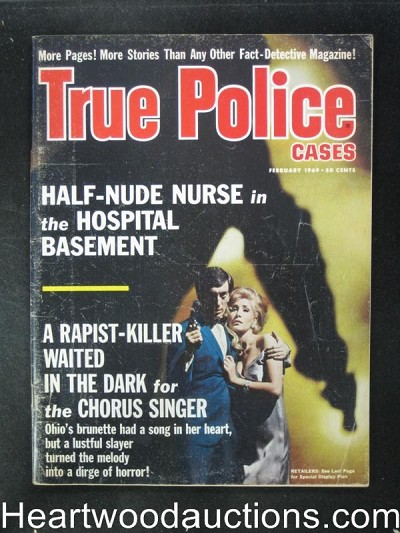 "True Police Cases Feb 1969 ""A Bullet Out of the Night"""