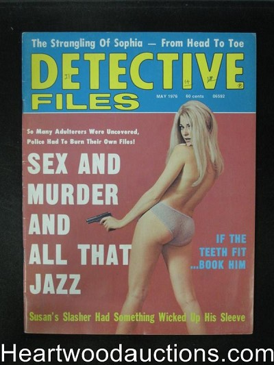 Detective Files May 1976 Girl in Panties Cover