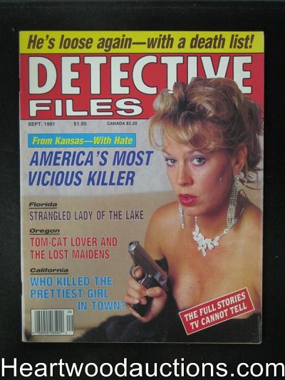 Detective Files Sep 1991 Bad Girl Cover