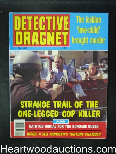 Detective Dragnet Dec 1986 Interior Bondage Images- High Grade