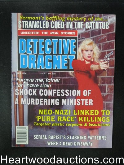Detective Dragnet Apr 1994 Bad Girl in Red Dress Cover- High Grade