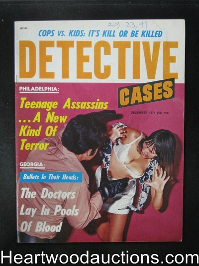 Detective Cases Dec 1971 Assault Cover