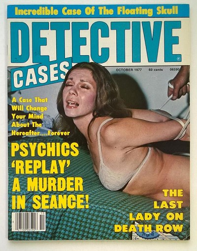 Detective Cases Oct 1977 Bondage Cover - High Grade