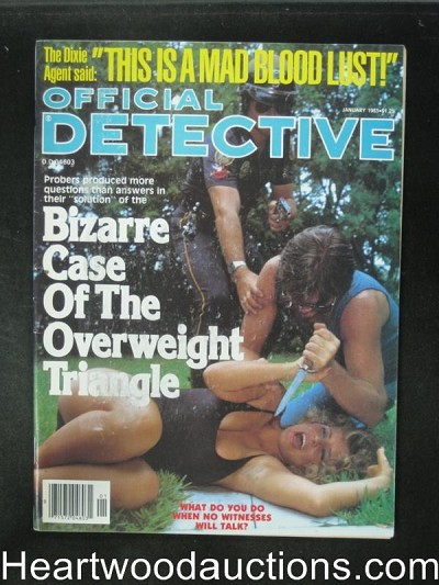 Official Detective Jan 1986 Assault Cover