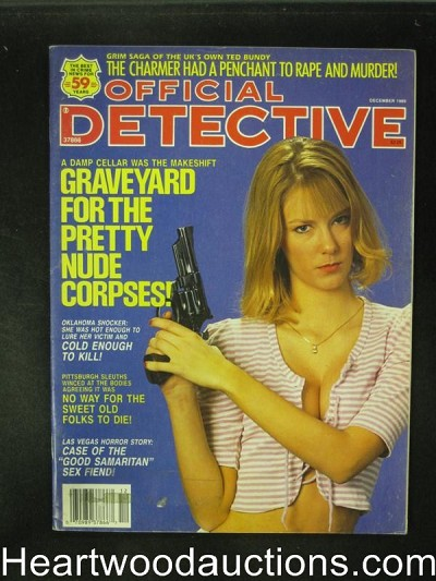 Official Detective Dec 1989 Bad Girl Cover- High Grade