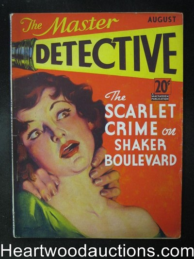 Master Detective August 1934   Berrett and Molway Electric Chair, Assault Cvr