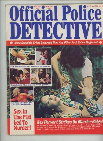 "Official Police Detective"" January 1975 Assault Cover"