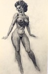 Original Art by Roy G. Krenkel -  Black Nude 7