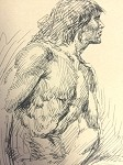 Roy G. Krenkel Original Art  -Excellent study of Tarzan 1960s