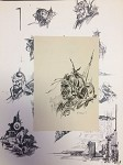 Roy G. Krenkel Original Art -   D'Ebelin, titled in ink for Sowers of the Thunder with proof