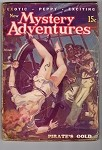 Mystery Adventures March 1936 Norman Saunders Bondage on a Pirate Ship Pirate's Gold Cover
