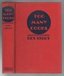 Too Many Cooks by Rex Stout (First Edition)