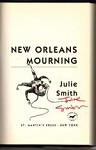 New Orleans Mourning by Julie Smith (First Edition) Signed