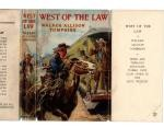 West of the Law by Walker Tompkins (First Edition) File Copy