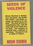 Seeds of Violence by Miriam Sharman (First Edition)