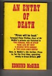 An Entry of Death by Edmund McGirr (First UK Edition) Gollancz Thriller