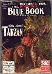 Blue Book Dec 1928 Edgar Rice Burroughs - Tarzan and the Last Empire Pt. 3 / Cover
