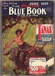 Blue Book Jun 1929 Edgar Rice Burroughs - Tanar of Pellucidar Cover