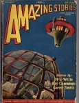 Amazing Stories Oct 1927 Frank R. Paul Cvr; H. G. Wells; Ray Cummings
