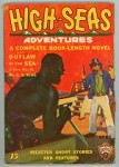 High Seas Adventures Apr 1935 Classic African Slave ship assault Cover