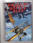 G-8 Battle Aces Sep 1935 cool cover of tiger attacking man in the sky