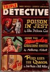 Triple Detective Fall 1948 Dreany Cvr; John Dickson Carr; Anthony Abbot