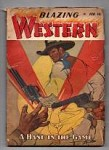 Blazing Western Feb 1947 One shot; H.W. Scottt sketch style cover art