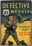 Detective Fiction Weekly Aug 11 1934 Tommy Gun Cover