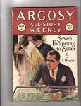 Argosy Jul 2 1927 Merritt Cvr Seven Footprints to Satan