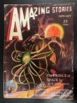 Amazing Stories Jan 1931 Jack Williamson Ape v. Space Insect cover
