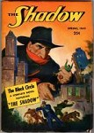 The Shadow  Spring 1949  The Black Circle; Cvr:Shadow looms over and smashes city
