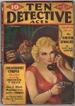 Ten Detective Aces  Oct 1935  Moon Man Assault GGA cleavage Cvr