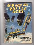 G 8 Battle Aces Dec 1935 Very Bizarre Cvr Staffel of Floating Heads