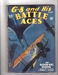 G 8 Battle Aces Jan 1936 Wild flying Batmen Cvr. The Blood Bat Staffel