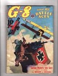 G 8 Battle Aces Jan 1938 Wild Horror Cvr Satan Paints the Sky. Trimmed