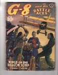 G 8 Battle Aces Apr 1940 Oriental Menace Cvr Wings of the Dragon Lord