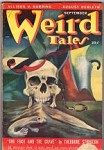 Weird Tales Sep 1949 Michael Labonski skull Cvr; Seabury Quinn; August Derleth