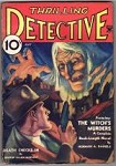 Thrilling Detective May 1934 Johnston McCulley Green Ghost story, Amos Sewell